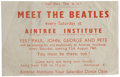 Music Memorabilia:Posters, The Beatles Meet the Beatles Aintree Institute Handbill, Oneof Only Four Known (1961)....