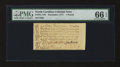 Colonial Notes:North Carolina, North Carolina December, 1771 £1 PMG Gem Uncirculated 66 EPQ....