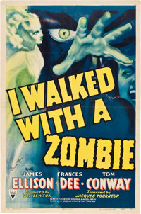 "I Walked with a Zombie (RKO, 1943). Autographed One Sheet (27"" X 41"")"