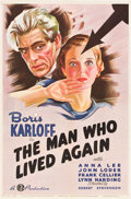 """Movie Posters:Horror, The Man Who Lived Again (Gaumont, 1936). One Sheet (27"""" X 41""""). Horror.. ..."""