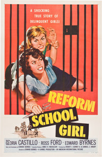 "Reform School Girl (American International, 1957). One Sheet (27"" X 41"")"