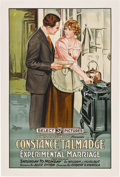 "Movie Posters:Comedy, Experimental Marriage (Select, 1919). One Sheet (27"" X 41"").. ..."