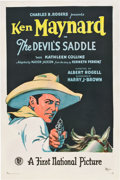 "Movie Posters:Western, The Devil's Saddle (First National, 1927). One Sheet (27"" X 41"")....."