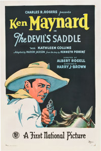 """The Devil's Saddle (First National, 1927). One Sheet (27"""" X 41"""")"""
