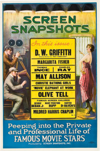 "Screen Snapshots #4 (Screen Snapshots, Inc., 1920). One Sheet (27"" X 41"")"
