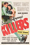 "Movie Posters:Film Noir, The Killers (Universal, 1946). One Sheet (27"" X 41"").. ..."