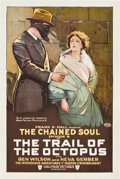 "Movie Posters:Serial, The Trail of the Octopus (Hallmark, 1919). One Sheet (27"" X 41"")Episode 9 -- ""The Chained Soul."". ..."