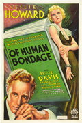 "Movie Posters:Drama, Of Human Bondage (RKO, 1934). One Sheet (27"" X 41"").. ..."