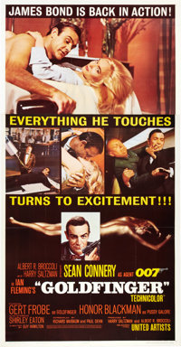 "Goldfinger (United Artists, 1964). Three Sheet (41"" X 81"")"
