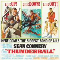 "Thunderball (United Artists, 1965). Six Sheet (81"" X 81"")"