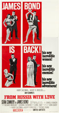 "Movie Posters:James Bond, From Russia with Love (United Artists, 1964). Three Sheet (41"" X81"") Flat Folded Style B.. ..."