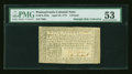 Colonial Notes:Pennsylvania, Pennsylvania April 10, 1777 £4 Black PMG About Uncirculated 53....