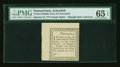 Colonial Notes:Pennsylvania, Pennsylvania January 18, 1777 3d Ogden Note PMG Gem Uncirculated 65EPQ....