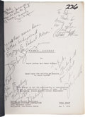 Movie/TV Memorabilia:Autographs and Signed Items, Urban Cowboy Cast and Crew-Signed Screenplay....