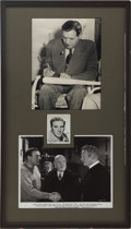 Movie/TV Memorabilia:Autographs and Signed Items, Babe Ruth and William Bendix Autographs Display....