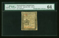 Colonial Notes:Pennsylvania, Pennsylvania April 25, 1776 3d PMG Choice Uncirculated 64....