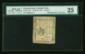 Colonial Notes:Pennsylvania, Pennsylvania April 25, 1776 3d PMG Very Fine 25....