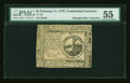 Colonial Notes:Continental Congress Issues, Continental Currency February 17, 1776 $2 PMG About Uncirculated55....