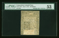 Colonial Notes:Connecticut, Connecticut June 1, 1775 20s Uncanceled PMG About Uncirculated 53....
