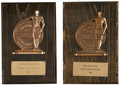 Movie/TV Memorabilia:Awards, Fred Zinneman's Laurel Awards.... (Total: 2 )
