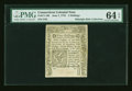 Colonial Notes:Connecticut, Connecticut June 7, 1776 2s Cut Cancel PMG Choice Uncirculated 64EPQ....