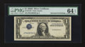 Error Notes:Inverted Third Printings, Fr. 1613n $1 1935D Silver Certificate. PMG Choice Uncirculated 64EPQ.. ...