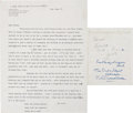 Music Memorabilia:Autographs and Signed Items, Beatles Related - John Lennon Typed Letter Signed. ...