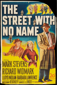 """The Street With No Name Lot (20th Century Fox, 1948). One Sheet (27"""" X 41"""") and Lobby Cards (5) (11"""" X 14..."""