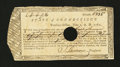 Colonial Notes:Connecticut, Connecticut Fiscal Paper. June 1, 1782. Very Fine....