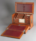 Paintings, AN ENGLISH WALNUT TRAVEL DESK. Late 19th-Early 20th Century. 11-1/2 x 16-3/4 x 9-1/2 inches (29.2 x 42.5 x 24.1 cm) closed. ...