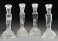 Decorative Arts, Continental:Lamps & Lighting, A SET OF FOUR ROCK CRYSTAL CANDLESTICKS. 8-3/4 inches (22.2 cm)high, each. ... (Total: 4 Items)
