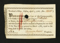 Colonial Notes:Massachusetts, Massachusetts Treasury Certificates, Boston £3 April 1, 1786. VeryFine-Extremely Fine....