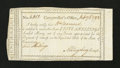 Colonial Notes:Connecticut, Connecticut For the Payment of Interest. Nearly Full Indent.February 6, 1792. Very Fine....