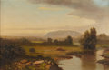 Fine Art - Painting, American, A.J.M. ELLRICK. West Rock, New Haven. Oil on canvas. 22 x 34inches (55.9 x 86.4 cm). Signed lower left: Ellrick. Ti...