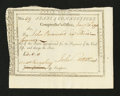 Colonial Notes:Connecticut, Connecticut Civil List. January 31, 1794. Extremely Fine....