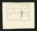 Colonial Notes:Connecticut, Connecticut Pay Table Office. September 16, 1784. ExtremelyFine-About New....