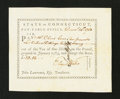Colonial Notes:Connecticut, Connecticut Pay Table Office. December 14, 1784. Extremely Fine-About New....
