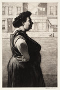 Fine Art - Work on Paper:Print, MARTIN LEWIS (American, 1881-1962). Boss of the Block, 1939. Etching and aquatint. 11-1/2 x 7-1/2 inches (29.2 x 19.1 cm...