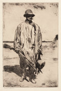 Fine Art - Work on Paper:Print, FRANK WESTON BENSON (American, 1862-1951). Old Tom, 1926.Etching on paper. 14-3/4 x 9-3/4 inches (37.6 x 24.9 cm), (she...