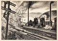 Prints, LOUIS LOZOWICK (American, 1892-1973). Steel Valley, 1936. Lithograph on paper. 9-3/8 x 13-3/8 inches (23.9 x 34.0 cm), (...