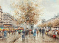 Paintings, ANTOINE BLANCHARD (French, 1910-1988). Le Louvre et les Bouquinistes. Oil on canvas. 13 x 18 inches (33.0 x 45.7 cm). Si...