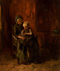 Paintings, JACOB SIMON HENDRIK KEVER (Dutch, 1854-1922). Woman and Child. Oil on canvas. 22 x 18 inches (55.9 x 45.7 cm). Signed lo...