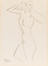 HENRI MATISSE (French, 1869-1954) Nude, 1950 Lithograph on paper 16 x 11-1/2 inches (40.6 x 29.2