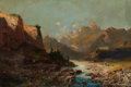 Fine Art - Painting, European:Modern  (1900 1949)  , JULES LE BLAIR (British, 20th Century). Landscape. Oil on canvas laid on board. 16 x 24 inches (40.6 x 61.0 cm). Signed ...