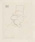 Fine Art - Work on Paper:Print, ÉDOUARD MANET (French, 1832-1883). Charles Baudelaire de Profile. Etching on Arches paper. Plate size: 4-1/4 x 3-5/8 inc...