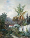 Paintings, WILLIAM H. HILLARD (American, 1836-1905). Tropical Landscape. Oil on canvas. 21 x 17 inches (53.3 x 43.2 cm). Signed low...