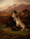 Fine Art - Painting, European:Antique  (Pre 1900), JAMES HARDY THE YOUNGER (British, 1832-1889). Hunting Dogs.Oil on canvas. 36-1/4 x 28-1/2 inches (92.1 x 72.4 cm). Sign...