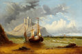 Fine Art - Painting, European:Antique  (Pre 1900), JAMES WEBB (British, 1815-1895). Untitled (Anchored Boat), 1866. Oil on canvas. 24 x 36 inches (61.0 x 91.4 cm). Signed ...