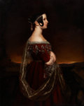 Fine Art - Painting, European:Antique  (Pre 1900), Attributed to ARY SCHEFFER (Dutch, 1795-1858). Portrait of aLady with Pearls, circa 1830-1840. Oil on canvas. 50 x 40 i...
