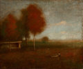 Fine Art - Painting, American:Antique  (Pre 1900), GEORGE INNESS, JR. (American, 1853-1926). Autumn Afternoon,Indian Summer. Oil on canvas. 18 x 24 inches (45.7 x 61.0 cm...